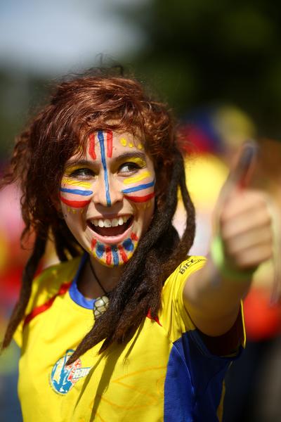 哥倫比亞主教練佩克爾曼好樣的!我挺你做總統 (Celso Junior/Getty Images)