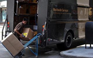 UPS 17日宣布美加地區將依包裹大小收費,預計12月29日開始。(Justin Sullivan/Getty Images)
