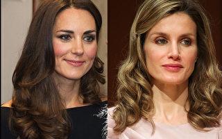 组图:着装大比拼 西班牙王后vs英国王妃