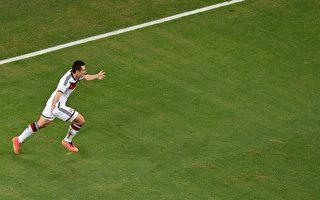 克洛泽救德国 比肩世界杯最多入球射手