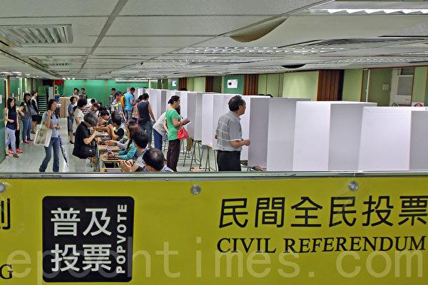 无惧中共和港府的打压,香港6.22全民公投在6月20日启动电子投票后,在6月22日正式进入实体投票阶段;截至晚上12时,连同实体票站投票数字,已有705,254投票,民意空前踊跃。(潘在殊/大纪元)