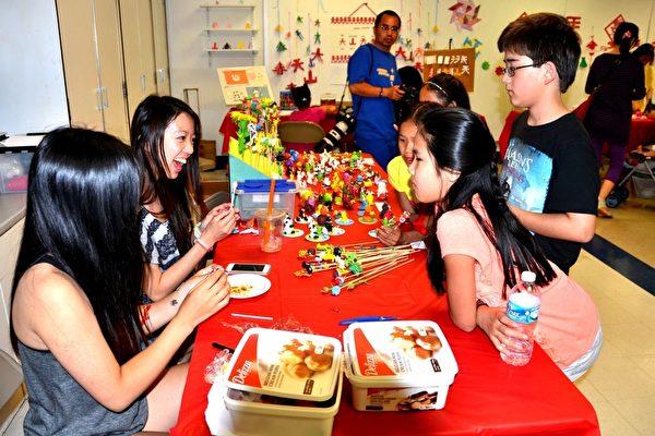 中國節上還有兒童喜歡的活動。(良克霖/大紀元)