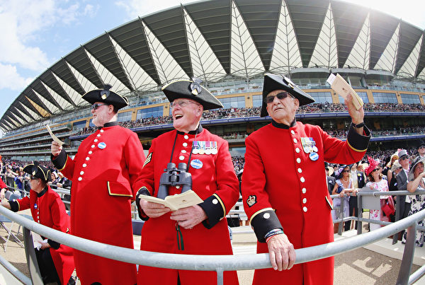 切爾西退休軍官團的老兵們(Chris Jackson/Getty Images for Ascot Racecourse)