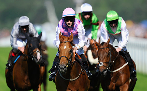2014年6月21日,皇家賽馬週第五天的比賽。(Alan Crowhurst/Getty Images for Ascot Racecourse)