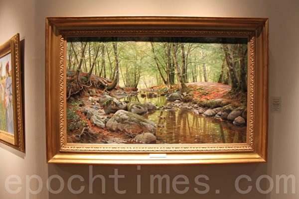 倫敦Macconnal-Mason Gallery畫廊的展位上總是有些畫讓人流連忘返(曹鶯飛/大紀元)