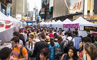 組圖:亞洲美食節紐約時代廣場體驗亞洲文化1