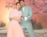 張耀揚(右)今年年初到台灣為王若琳的MV跨刀,飾演一對情侶。(台灣索尼提供)