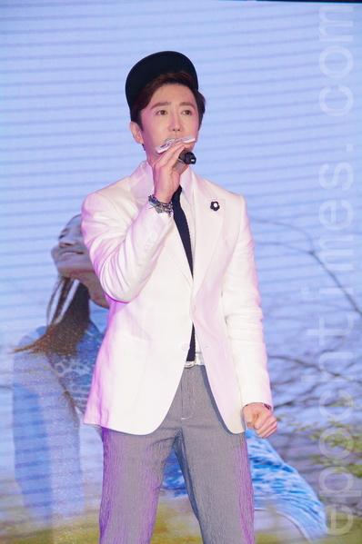 金承熙(RK)於2014年7月5日在台北參加韓國觀光局活動。(黃宗茂/大紀元)