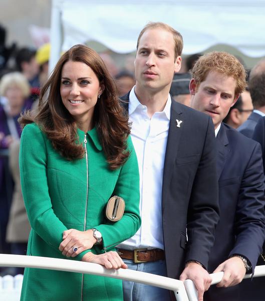 三位王室成員在第一階段比賽終點哈羅蓋特。(Chris Jackson - WPA Pool/Getty Images)