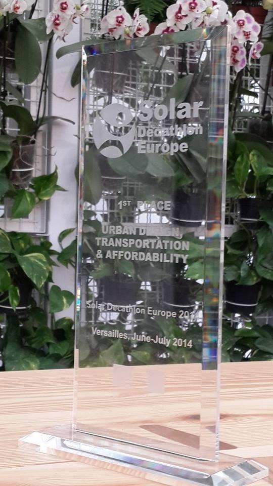 「十項全能綠色建築競賽」中交大獲頒發都市設計大獎。(交通大學提供)