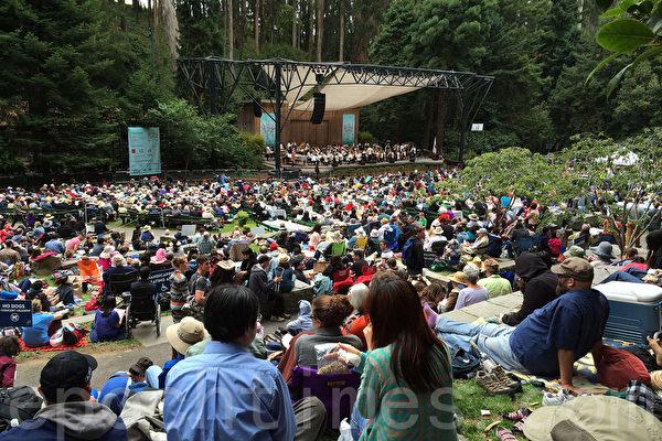7月6日,舊金山史坦樹林露天音樂節吸引了成千上萬的灣區民眾。(林驍然/大紀元)
