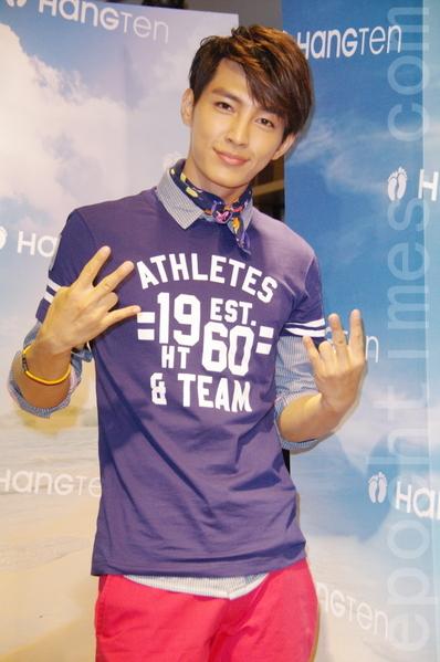 炎亞綸於7月12日現身台北時尚店開幕活動,他特別化身劇中角色「小鹿」現身,還大膽預測世足冠軍。(黃宗茂/大紀元)