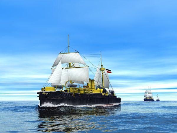 北洋舰队扬帆大西洋。(暖暖书屋提供)