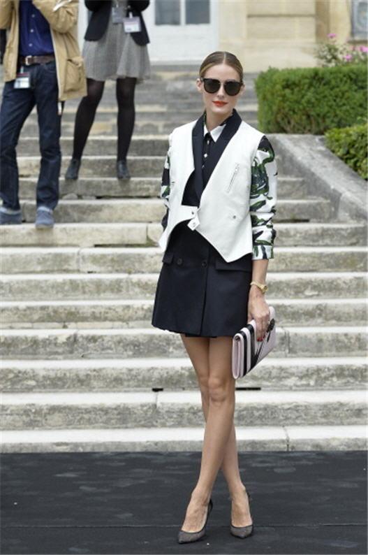 Olivia Palermo 标准含着金汤匙出生的天之娇女,被认为是花边教主《Gossip Girl》中Blair的真人化身。(MIGUEL MEDINA/AFP/Getty Images)