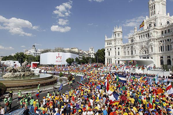 西班牙马德里的Cibeles square(CESAR MANSO/AFP)
