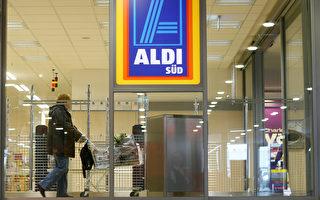 德国廉价连锁超市Aldi,创始人阿尔布雷希特(Karl Albrecht)成德国首富。图为法兰克福附近的Ruesselsheim市的Aldi超市。(Ralph Orlowski/Getty Images)