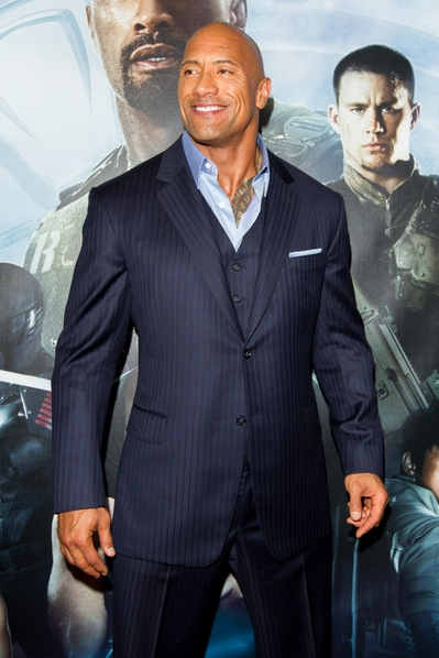 道恩.强森(Dwayne Johnson),人称巨石强森,是美国职业摔角手及美国动作巨星。(派拉蒙提供)