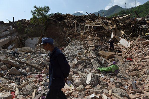 8月3日16時30分許,雲南省昭通市魯甸縣境內發生6.5級地震,造成重大人員傷亡。(GREG BAKER/AFP/Getty Images)