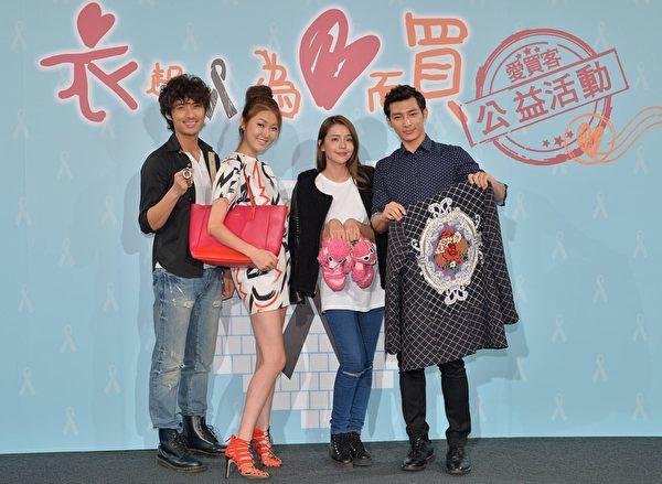 李运庆(左起)、王凯蒂、李毓芬、炎亚纶。(三立提供)