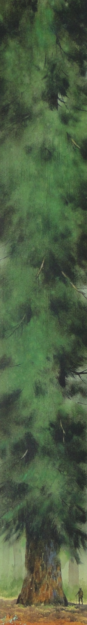 洪東標,《這一棵大樹》,77x11cm,2014,(中華亞太水彩藝術協會提供)