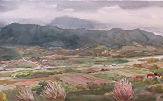陈品华《青溪一曲》,76×28cm_2006 (图:中华亚太水彩艺术协会提供)