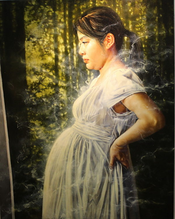 汤和宪《幸福肖像──白热期间2》,The Portrayal of Felicity-Incandescene2,布面油画 Oil on Canvas,91.0x72.5cm,2013(周道/大纪元)