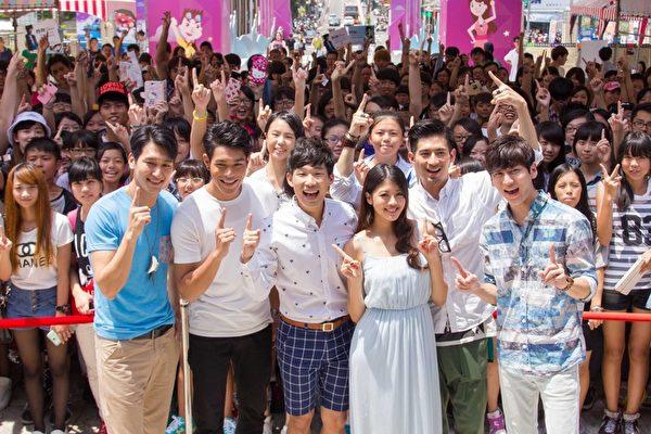 由左至右,邵翔、李迪恩、梅賢治、賴琳恩、簡宏霖、孫沁岳。(三立提供)