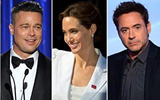 当今好莱坞最成功的这几位影星都有吸毒史,他们都曾坦承分享自己的心路历程。左起:布拉德•皮特,安吉丽娜•朱莉,小罗伯特•唐尼。(大纪元合成图)