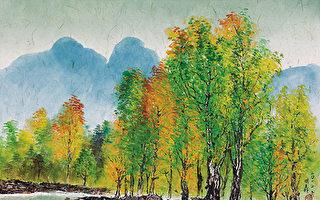 楓香(流沙畫)71×74cm (圖片來源:畫家提供)