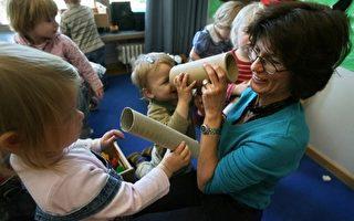 圖為德國的一家幼兒園 (JOHN MACDOUGALL/AFP)