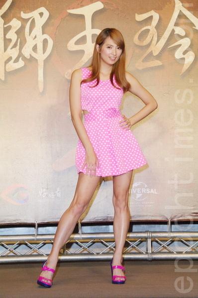 阿喜于8月26日在台北出席《铁狮玉玲珑2》开拍记者会。(黄宗茂/大纪元)