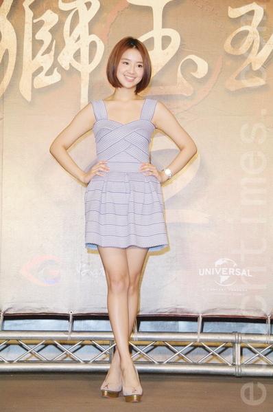 晖倪于8月26日在台北出席《铁狮玉玲珑2》开拍记者会。(黄宗茂/大纪元)