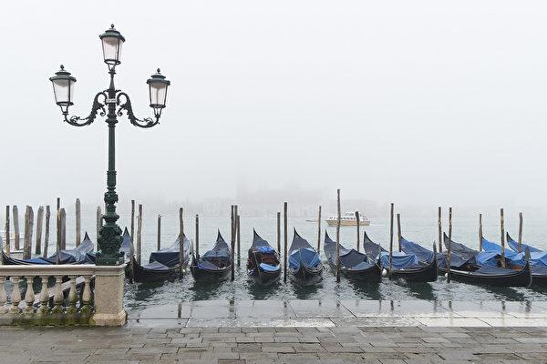 威尼斯贡朵拉。(Marco Secchi/Getty Images)