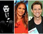 (左至右)卓别林、拉丁歌后兼演员詹妮弗•洛佩兹、笑星金•凯瑞和奥斯卡影后哈莉•贝瑞都曾在外流浪。(大纪元合成图/公共领域、Getty Images)