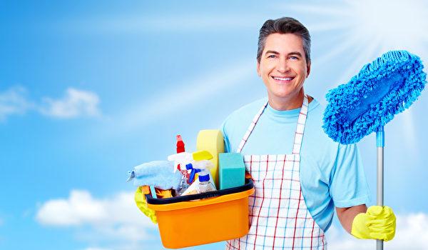 環境清潔舒適要靠勤打掃,化學殺蟲劑與清潔劑對人體健康有害,須審慎使用。(Fotolia)