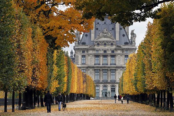 杜乐丽花园秋景(FRANCOIS GUILLOT/AFP/Getty Images)