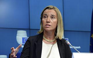 即將接任歐盟外交和安全政策高級代表的意大利外長茉格里尼說,普京從不遵守諾言,持續煽動烏克蘭的分離派。(THIERRY CHARLIER/AFP)
