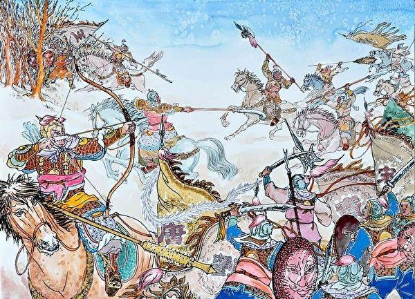 李世民兵征天下。(繪圖由曹醉夢提供)