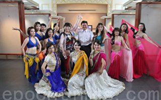 彰化市公所举办中秋舞会,邀请当地舞团助阵。(郭益昌/大纪元)