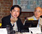 和平占中金融组负责人钱志健被《信报》终止连载9年的专栏,认为是北京的政治打压。(潘在殊/大纪元)