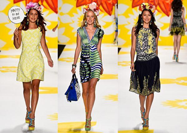 2015纽约春夏时装周,Desigual发布会。(大纪元合成图/Getty Images)