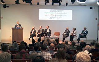 在9月3日于加大伯克利分校举行的國際地震預警大會上,各国专家官员讨论了如何從科學和資金兩方面,推動加州和西海岸地震預警系統的建立。(陳志宇/大纪元)