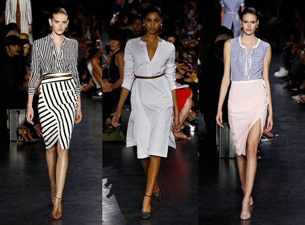 2015紐約春夏時裝週,紐約女裝品牌Altuzarra秀。(大紀元合成圖/Getty Images)