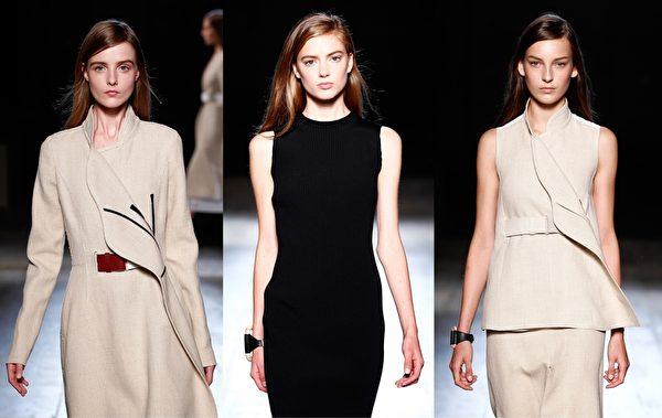 2015紐約春夏時裝週,「貝嫂」Victoria Beckham品牌秀。(大紀元合成圖/Getty Images)