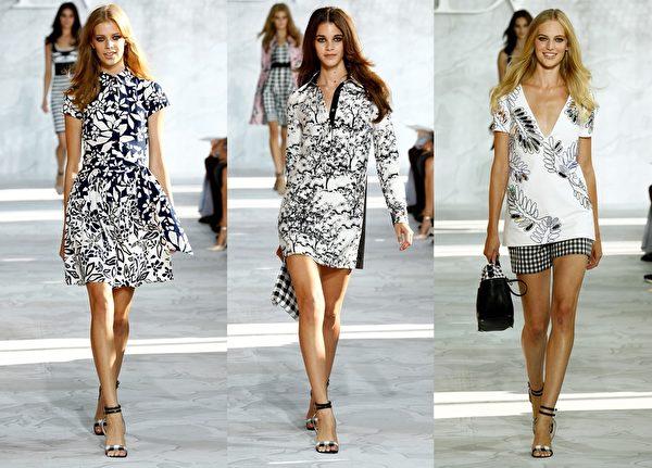 2015紐約春夏時裝週,美國著名設計師Diane Von Furstenberg品牌(DVF)秀。(大紀元合成圖/Getty Images)