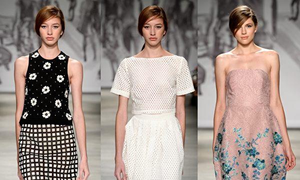 2015紐約春夏時裝週,Lela Rose品牌秀。(大紀元合成圖/Getty Images)