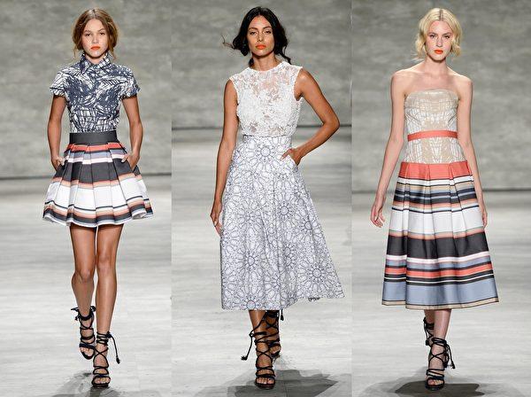 2015紐約春夏時裝週,Luis Anton品牌秀。(大紀元合成圖/Getty Images)