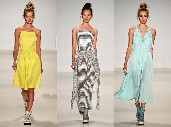 2015紐約春夏時裝週,Nanette Lepore品牌秀。(大紀元合成圖/Getty Images)