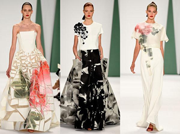2015紐約春夏時裝週,著名品牌Carolina Herrera秀。(大紀元合成圖/Getty Images)