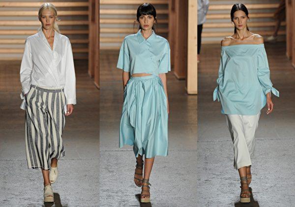 2015紐約春夏時裝週,Tibi品牌秀。(大紀元合成圖/Getty Images)